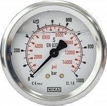 Манометр для АВД, 1000bar, 1/4внеш, нерж.сталь - фото 15420