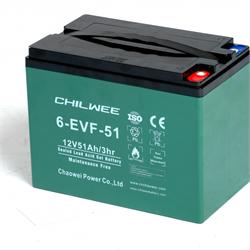 Chilwee 6-EVF-51 - Тяговый аккумулятор, GEL - фото 16632