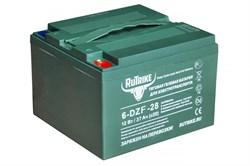 RuTrike 6-DZF-28 (12V28A/H C3) - гелевый тяговый аккумулятор - фото 16932