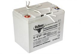 RUTRIKE 6-EVF-80 (12V80A/H C3) - ГЕЛЕВЫЙ ТЯГОВЫЙ АККУМУЛЯТОР